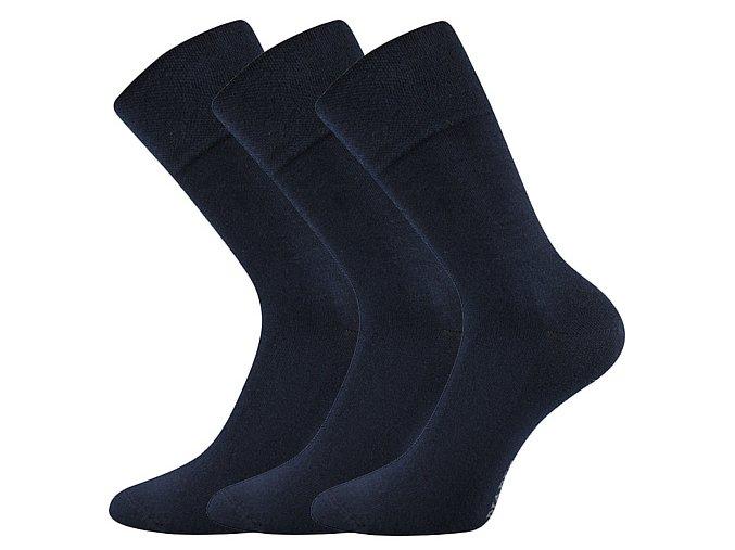 Společenské ponožky 3 kusy v balení Lonka Diagram tmavě modrá