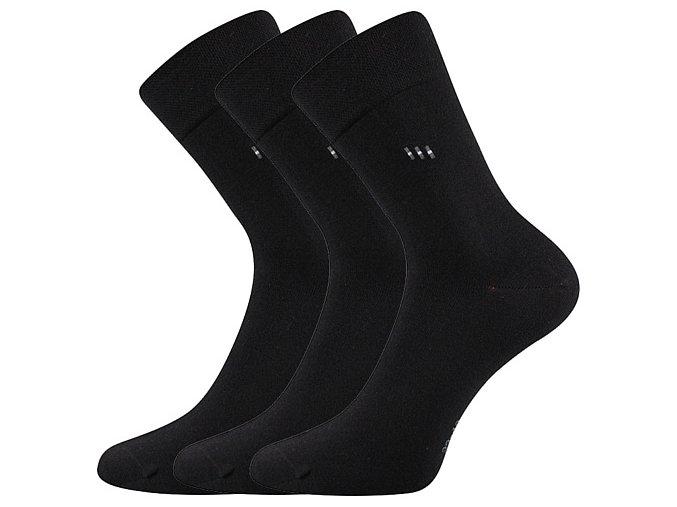 Zdravotní ponožky 3 kusy v balení Lonka Dipool černá
