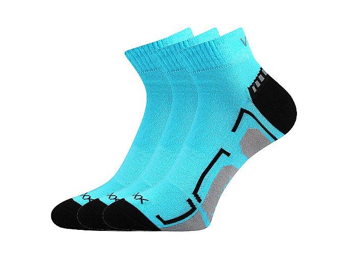 spotovní ponožky 3 kusy v balení VoXX Flash tyrkys