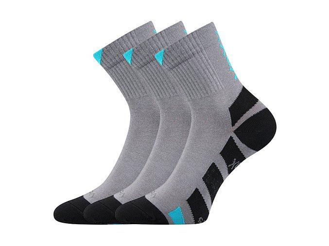 Ponožky VoXX 3 kusy v balení Gastl šedá