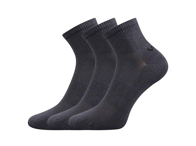 Ponožky VoXX 3 kusy v balení Metym tmavě šedá