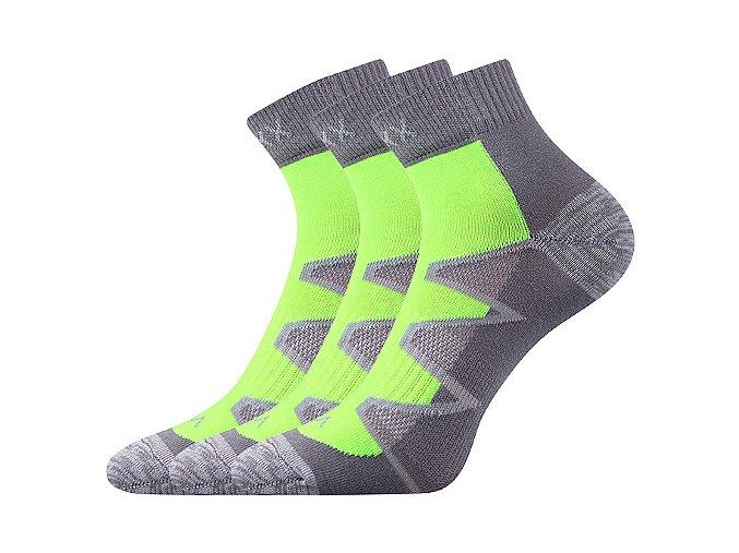 Ponožky VoXX 3 kusy v balení Monsa zelená