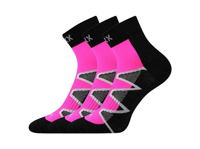 Ponožky VoXX 3 kusy v balení Monsa růžová