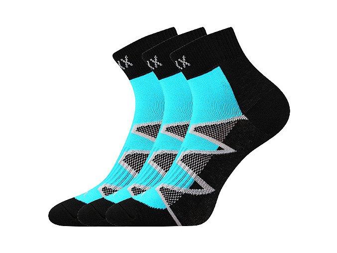 Ponožky VoXX 3 kusy v balení Monsa tyrkys