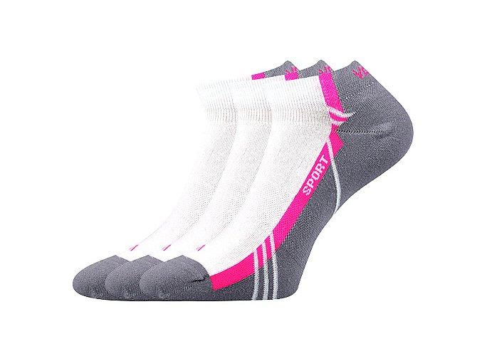 Ponožky VoXX 3 kusy v balení pinas bílá