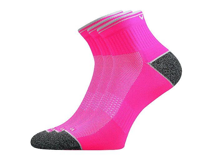 Sportovní Ponožky VoXX 3 kusy v balení Ray neon růžová