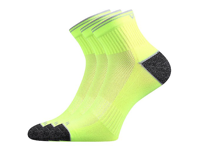 Sportovní Ponožky VoXX 3 kusy v balení Ray neon žlutá