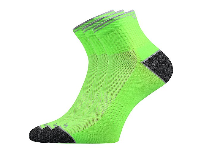 Sportovní Ponožky VoXX 3 kusy v balení Ray neon zelená