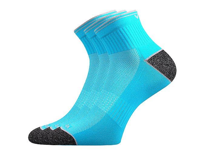 Sportovní Ponožky VoXX 3 kusy v balení Ray neon tyrkys