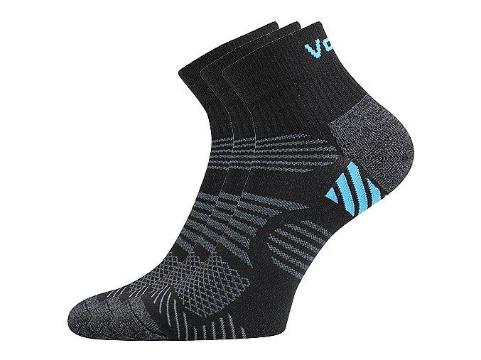 Sportovní Ponožky VoXX 3 kusy v balení Raymond černá