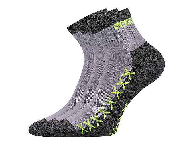 Ponožky VoXX 3 kusy v balení Vector světle šedá