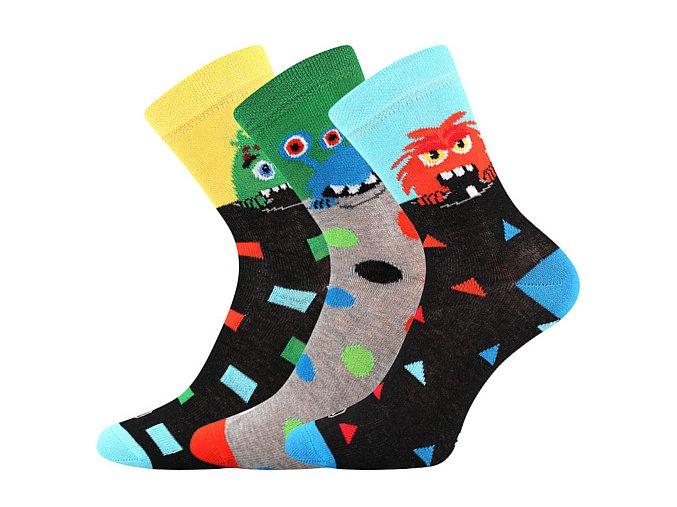 Dětské ponožky 3 kusy v balení Lonka Ufonek chlapec
