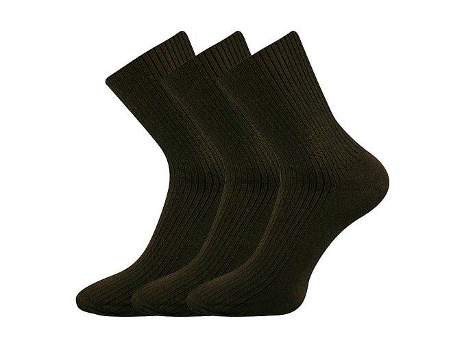 Společenské ponožky 3 kusy v balení Lonka Viktor Hnědá