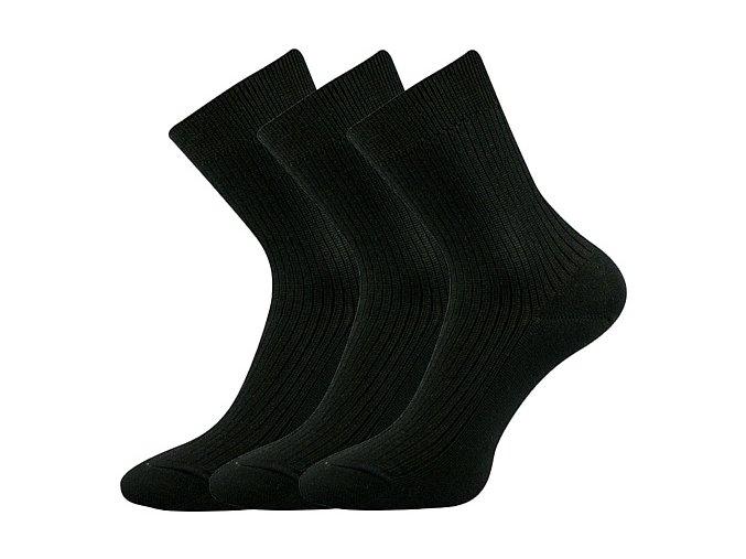 Společenské ponožky 3 kusy v balení Lonka Viktor Černá