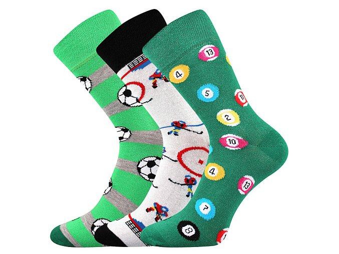 Společenské ponožky 3 kusy v balení Lonka Woodoo mix U