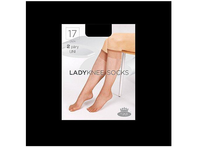 Podkolenky 2 páry v balení Boma LADYknee socks 17 DEN Nero