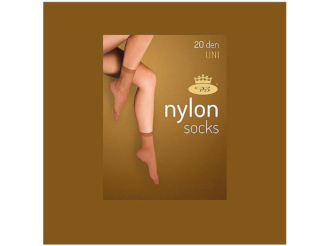 Punčochové ponožky 5 párů v balení Boma Nylon socks 20 DEN golden