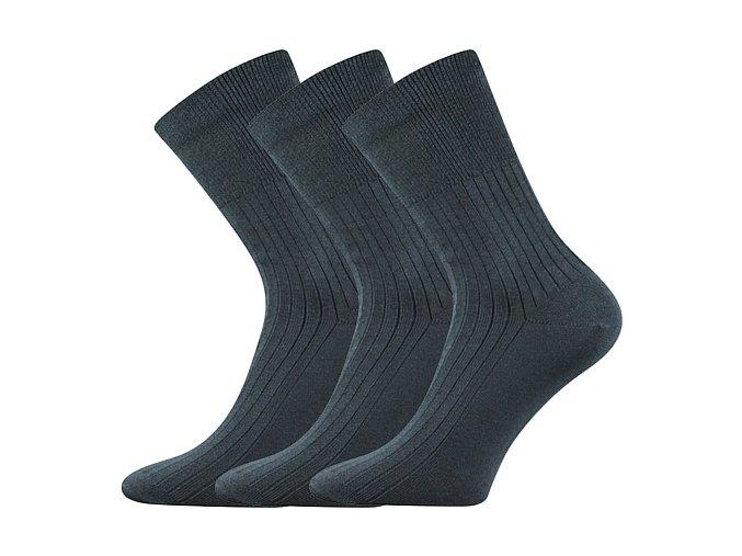 Zdravotní ponožky 3 kusy v balení VoXX Zdrav Tmavě Šedá
