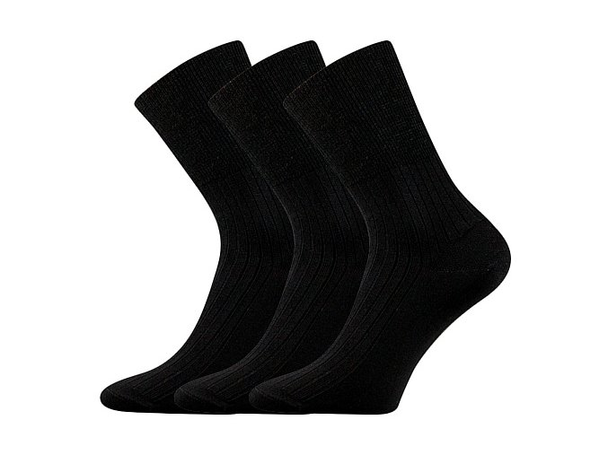 Zdravotní ponožky 3 kusy v balení VoXX Zdrav černá