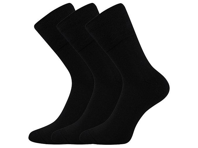 Zdravotní ponožky 3 kusy v balení VoXX Finego Černá