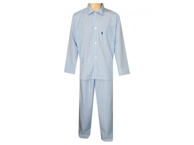 Pánské Pyžamo Popelín FOLTÝN PI20 světle modrá
