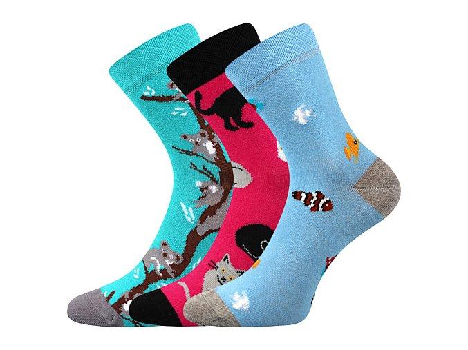 Dětské ponožky 3 kusy v balení VoXX Filip 02 protiskluzové mix c holka