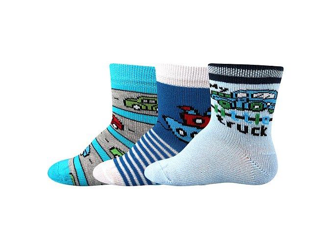 Kojenecké ponožky 3 páry v balení Boma Bejbik mix A kluk