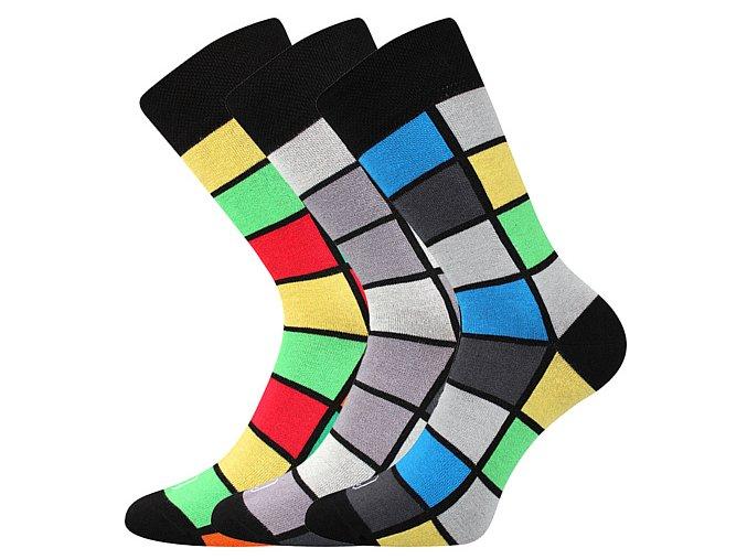 Společenské ponožky 3 kusy v balení Lonka Wearel 024 mix b