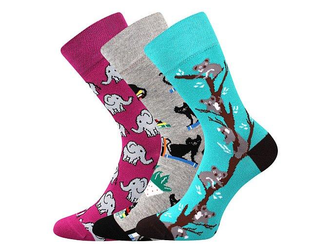 Společenské ponožky 3 kusy v balení Lonka Woodoo mix E1