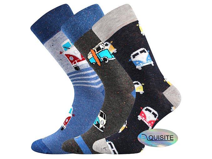 Společenské ponožky 3 páry v balení Lonka Harry mix C