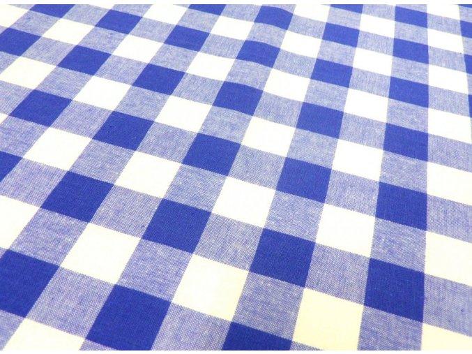 Kanafas 2 cm modrá kostka K01