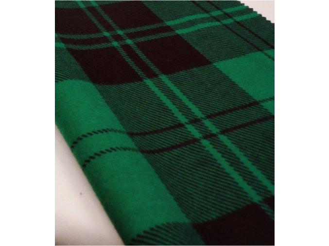 Flanel černo zelená kostka artikl S2
