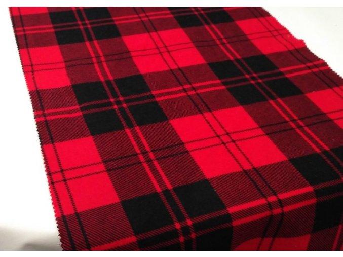 Flanel černo červená kostka artikl S3
