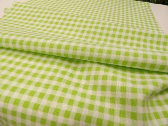 Flanel zelená kostička artikl 11643