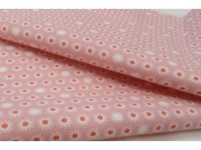 Flanel růžový abstraktní vzor artikl 150331