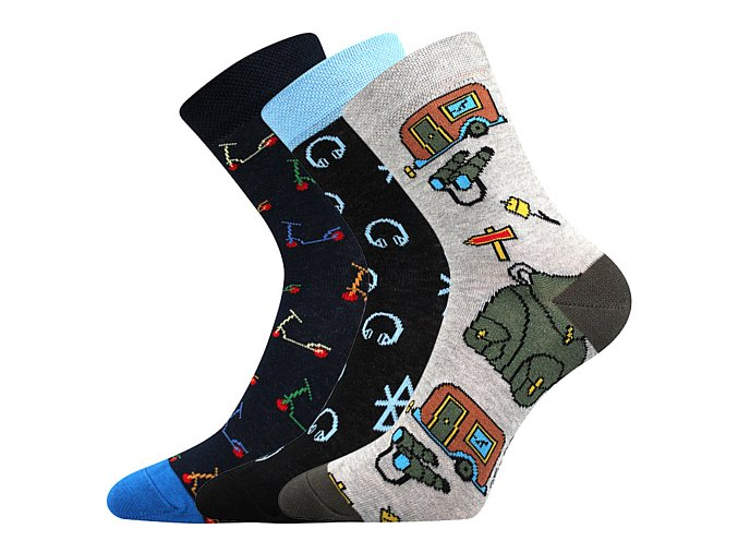 Dětské ponožky 3 kusy v balení Boma 057 21 43 11 mix vzorů A kluk