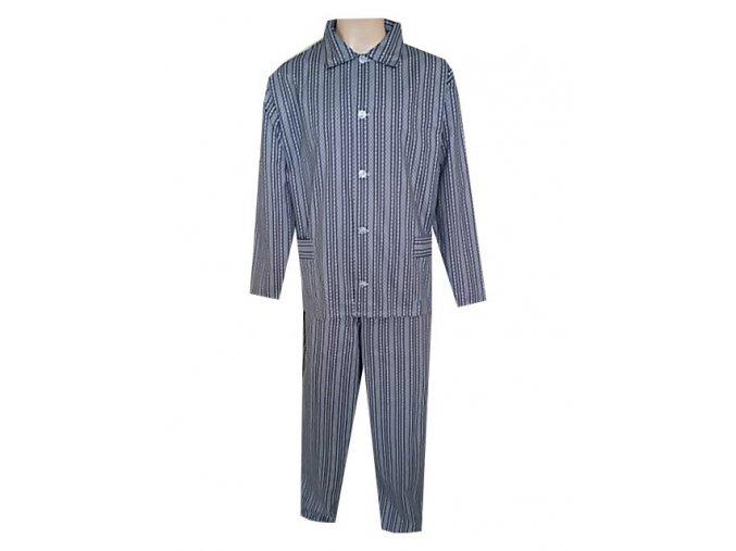 Pánské Pyžamo Plátěné Nadměrné FOLTÝN PPN17