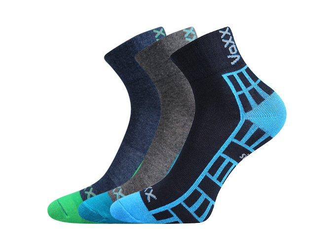 Dětské ponožky 3 kusy v balení VoXX Maik mix vzorů B