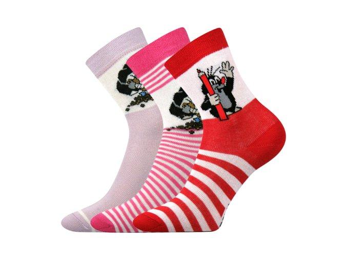 Dětské ponožky 3 kusy v balení Boma Krtek mix A