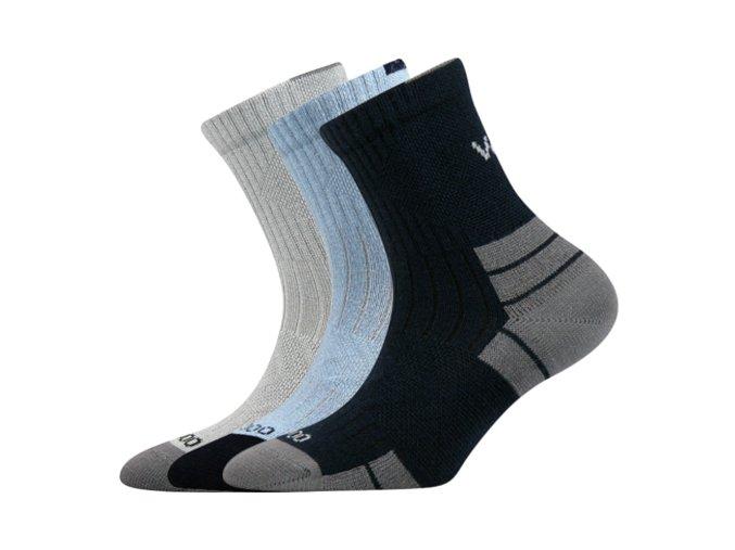 Dětské bambusové ponožky 3 kusy v balení VoXX Belkinik mix barev B