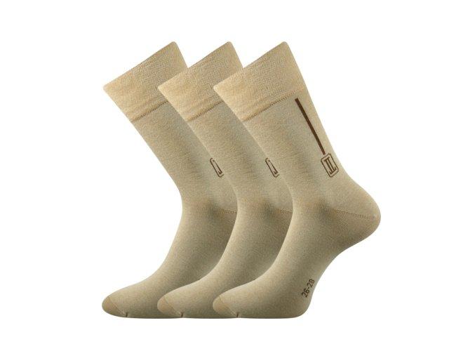 Zdravotní ponožky 3 kusy v balení Lonka Desan béžová
