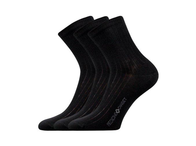 Zdravotní ponožky 3 kusy v balení Lonka Demedik černá