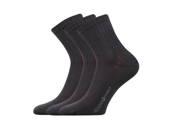 Zdravotní ponožky 3 kusy v balení Lonka Demedik tmavě šedá