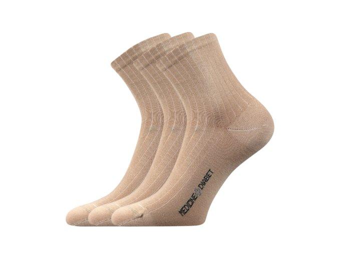 Zdravotní ponožky 3 kusy v balení Lonka Demedik béžová