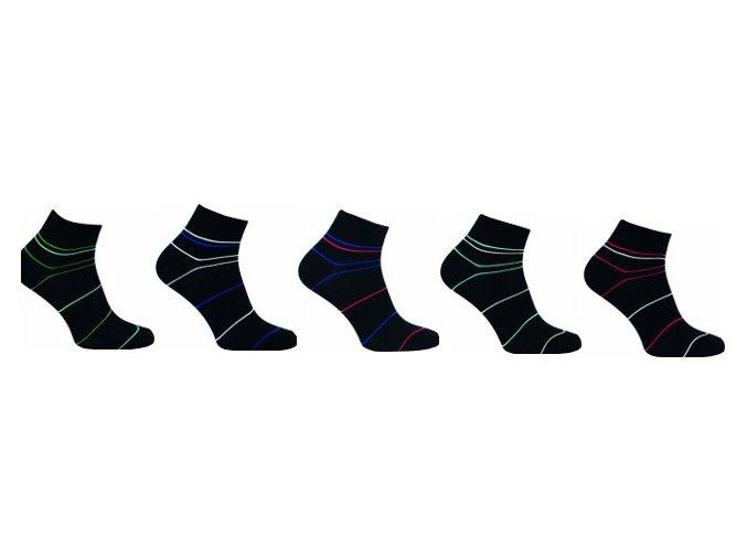 Bambusové ponožky 5 kusů v balení Novia Bambus 212 NB