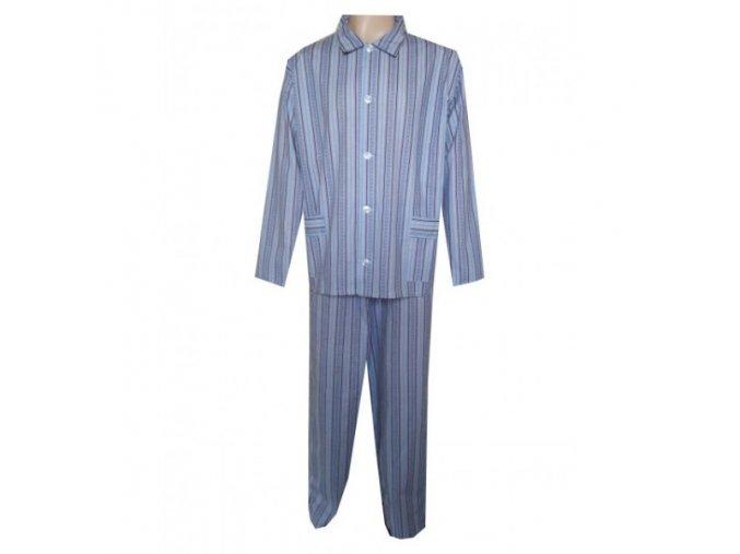 Pánské Pyžamo Plátěné Nadměrné FOLTÝN PPN 09 modrovínové