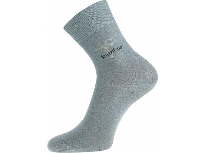 Bambusové ponožky Boma Kristián světle šedá
