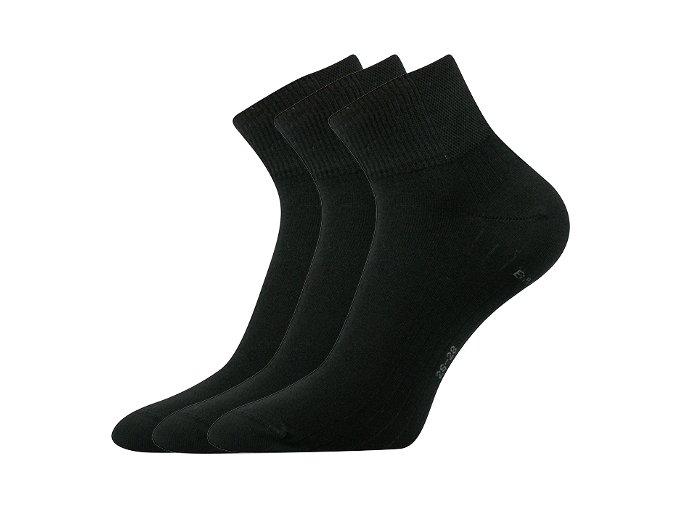 Bambusové ponožky 3 kusy v balení Lonka Raban černá