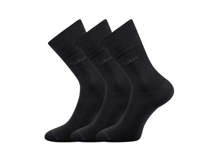 Zdravotní ponožky 3 kusy v balení Lonka Dakota tmavě šedá