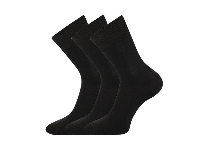 Zdravotní ponožky 3 kusy v balení VoXX Eduard černá